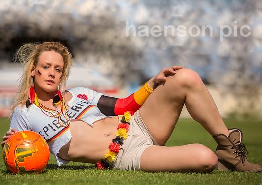Fussball-Europameisterschaft-Fotoshooting
