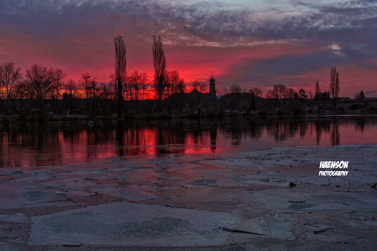 Roter-Sonnenaufgang